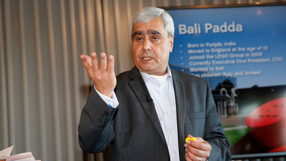 61-year-old Bali Padda had worked for the Lego Group for 14 years prior to being made head of the company