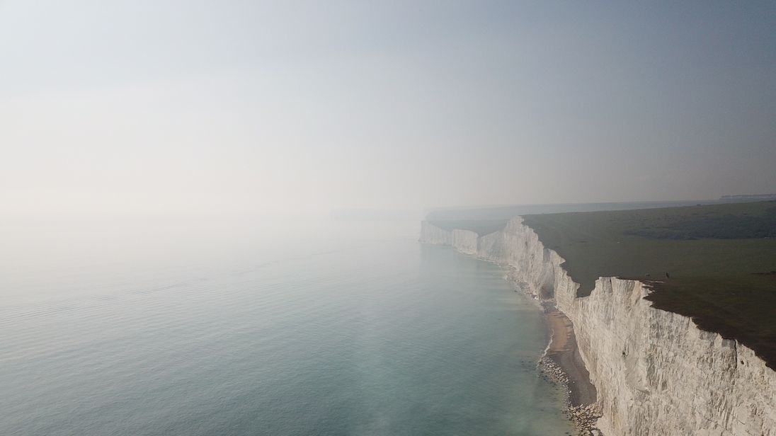Jacob Ward took this picture of the haze over the sea