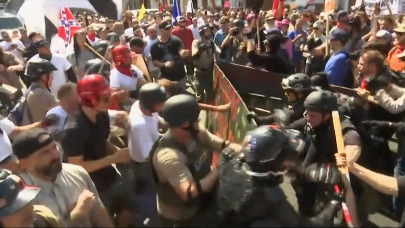 Violence during convene in Charlottesville