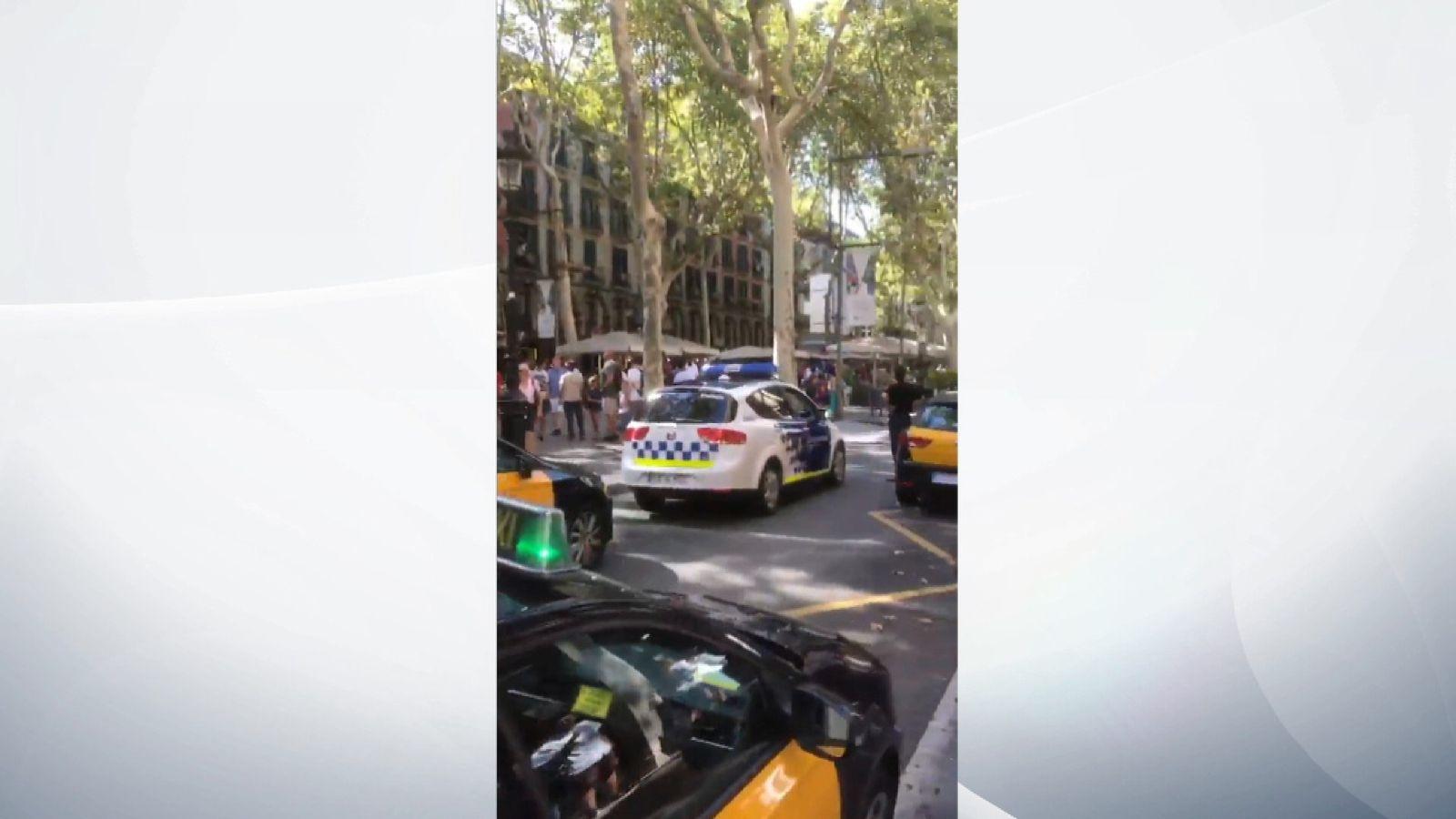 Police respond to terrorist attack in Barcelona