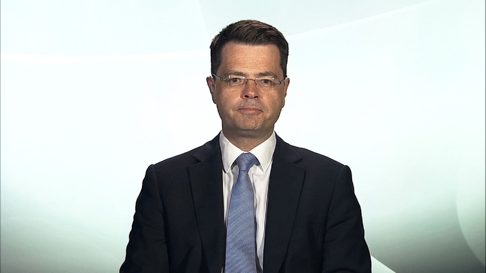Northern Ireland Secretary James Brokenshire in Millbank studio.