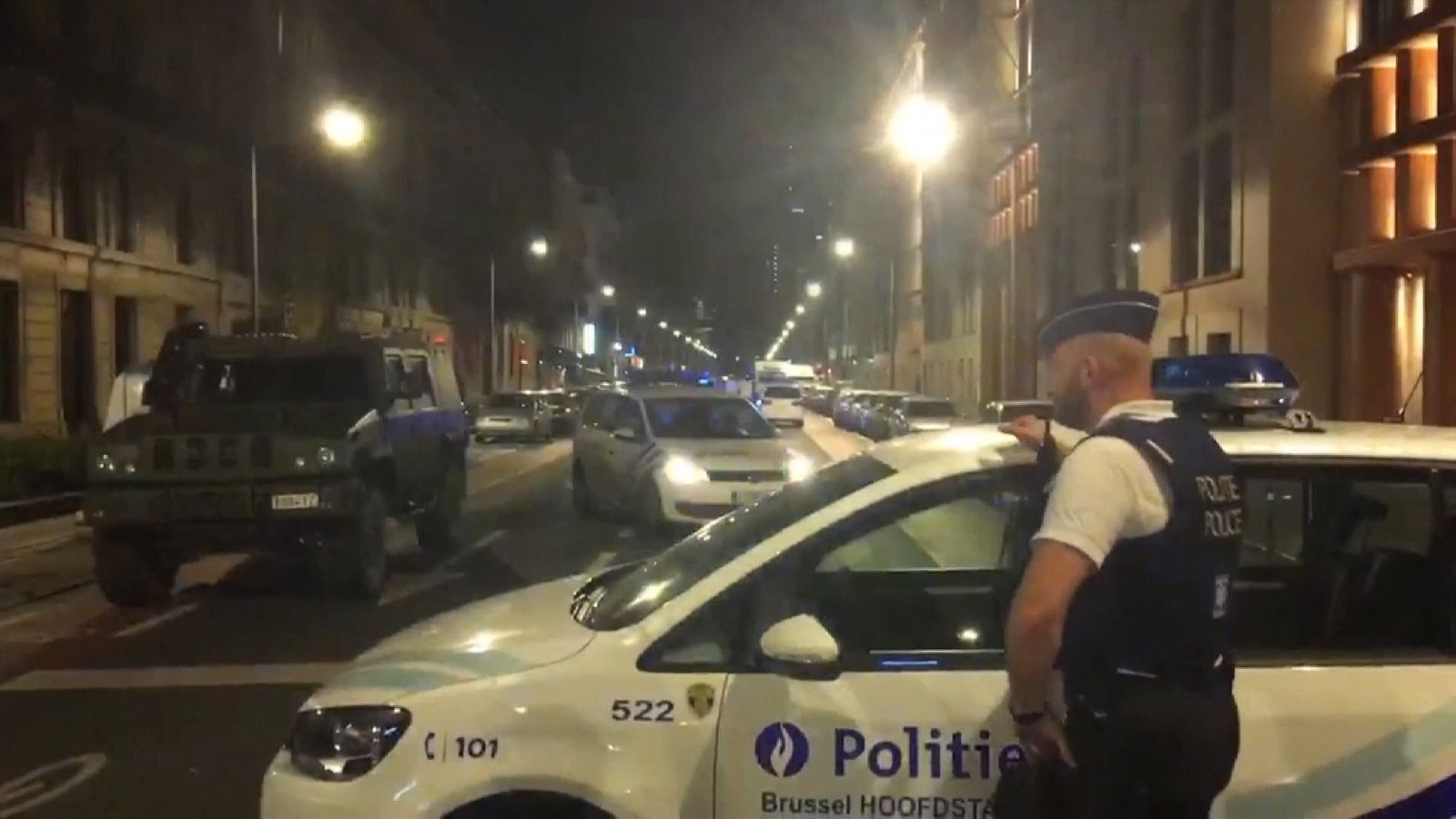 Man shot dead after attacking Brussels soldiers