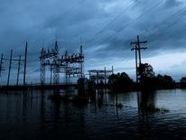 A submerged power station in Louisiana