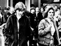 Jan 1980: Lady Diana Spencer and Camilla Parker-Bowles at Ludlow Races where Prince Charles is competing