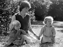 Sept 1980: Lady Diana Spencer, 19, girlfriend of Prince Charles, at the kindergarten in St. George's Square, Pimlico, London, where she works as a teacher