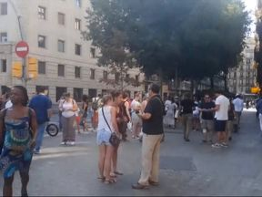 Van crashes into crowd in Barcelona, injuries reported