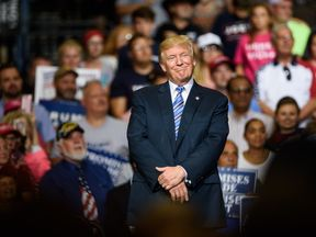 Donald Trump appeared at a rally in West Virginia after the news broke