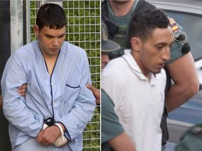 Mohamed Houli Chemlal (L) and Driss Oukabir (R) have been charged over the attacks