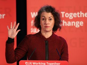 LONDON, ENGLAND - DECEMBER 15: Sarah Champion, Shadow Minister for Women and Equalities speaks during a rally at the Emmanuel Centre on December 15, 2016 in London, England. Mr Corbyn was joined by several speakers, including Jonathan Ashworth, Labour's Shadow Health Secretary, and spoke about the future of the NHS. (Photo by Dan Kitwood/Getty Images)
