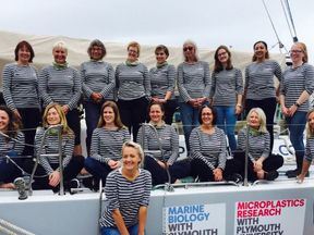The crew undertaking the first leg of the Round Britain journey to raise awareness of plastics in the seas