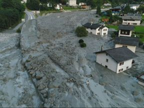 The landslide hit the Val Bondasca region of Switzerland, near the border with Italy