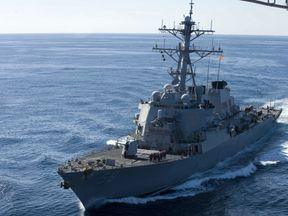 The guided-missile destroyer USS John S. McCain