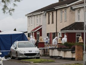 The house on Balbutcher Drive in Ballymun, Dublin where the woman and man were shot dead