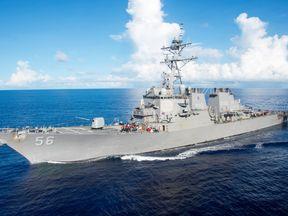 The USS John S McCain