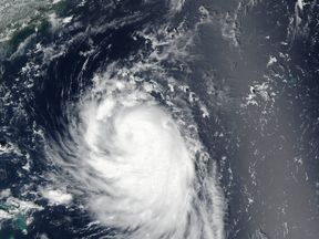The storm is the second hurricane in the Atlantic Ocean this season. Pic: NOAA/NASA Goddard Rapid Response Team