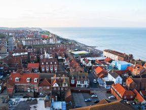 An aerial view of the seaside resort of Cromer, Norfolk