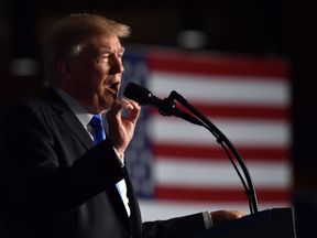 US President Donald Trump speaks during his address to the nation from Joint Base Myer-Henderson Hall in Arlington, Virginia, on August 21, 2017