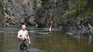 Putin fishes in the remote Tuva region