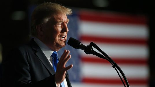 Donald Trump announces his strategy for the war in Afghanistan during an address to the nation from Fort Myer, Virginia