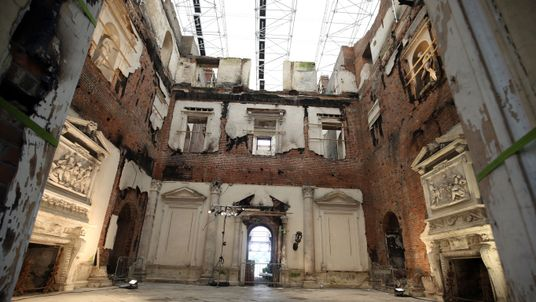 Work continues on the restoration of Clandon Park in Surrey, as the National Trust has announced that the grand 18th Century mansion is to be brought back to life after being reduced to a charred shell in a devastating fire