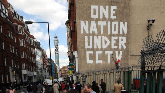 Graffiti allegedly by Bristol based artist 'Banksy'