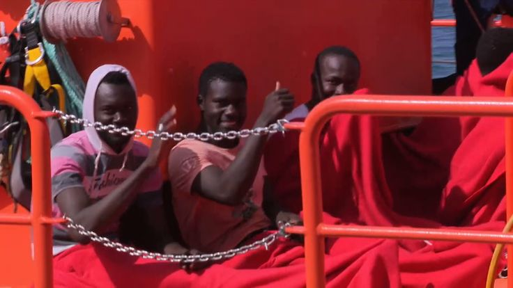 Migrants rescued by Spanish coastguard