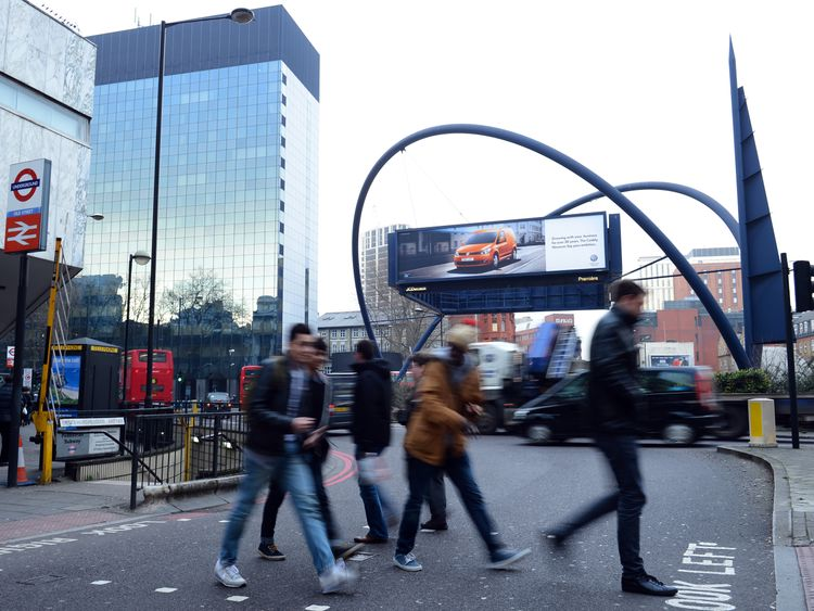 The collision happened on Old Street in central London. File pic