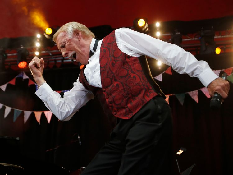 Bruce Forsyth performs on the Avalon stage at Glastonbury in 2013