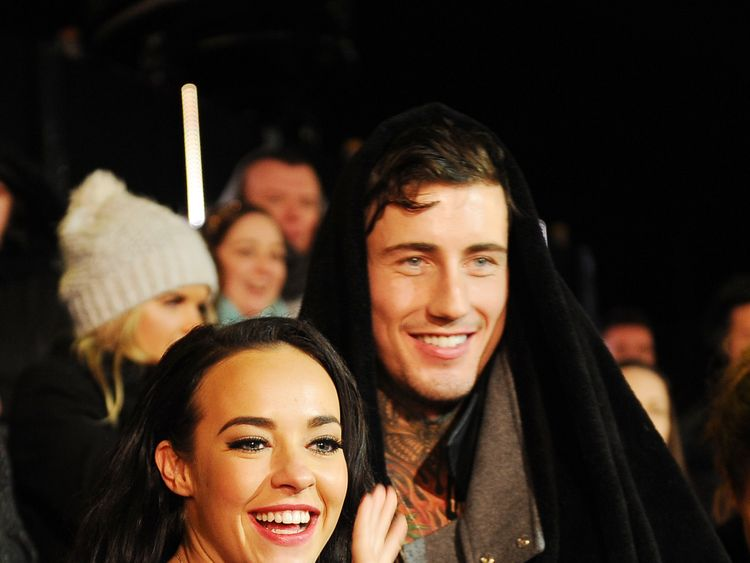 BOREHAMWOOD, ENGLAND - FEBRUARY 05: (L-R) Stephanie Davis and Jeremy McConnell at the final of Celebrity Big Brother at Elstree Studios on February 5, 2016 in Borehamwood, England. (Photo by Jeff Spicer/Getty Images)