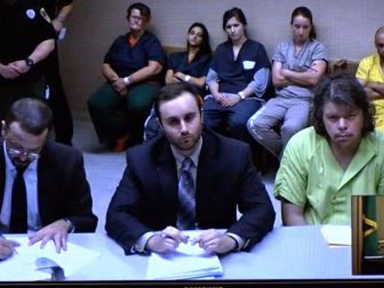 Jeremy Lindholm appears in court in Spokane on Thursday. Pic: KREM 2 News