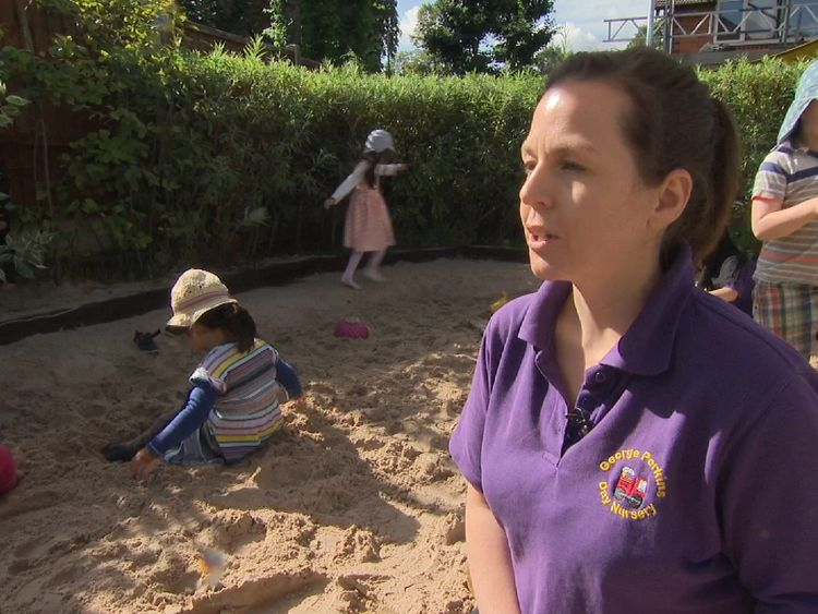 Nursery worker Kerri Scott says the lack of funding makes staff feel devalued