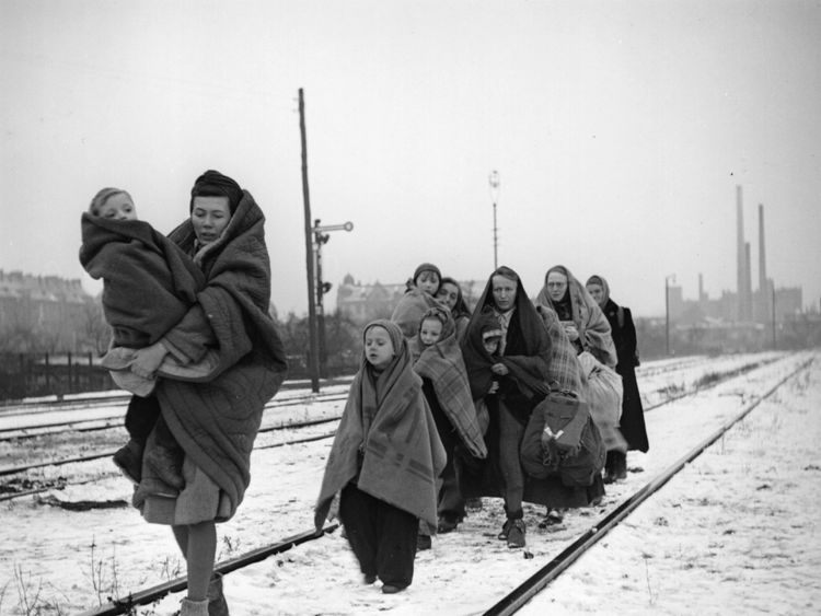 Polish refugees at the end of WWII