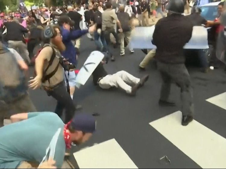 Protester killed at Charlottesville white nationalist rally