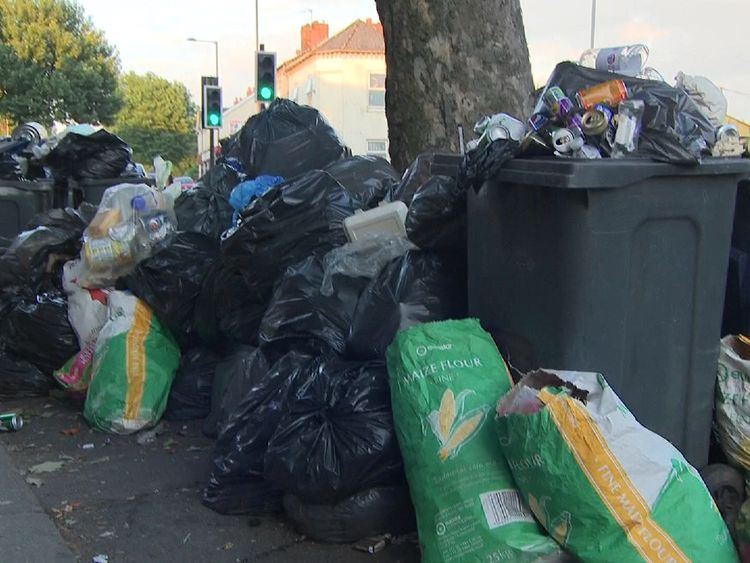 The council had promised to clear the entire city's rubbish backlog by Friday