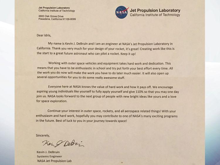 Letter to Idris Hylton