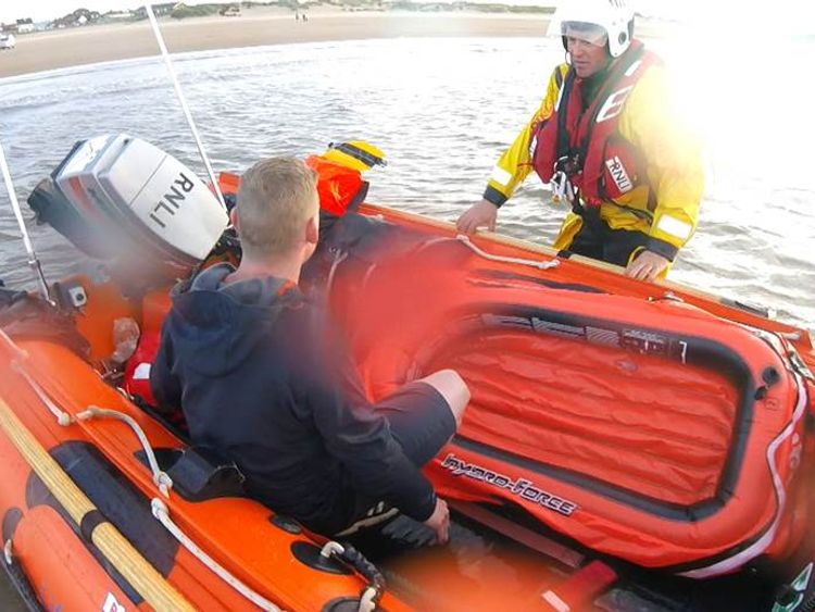 The RNLI said they believed the man was in his 30s
