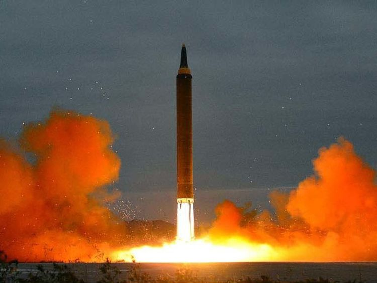 The latest missile test in North Korea Pic: Korean Central News Agency