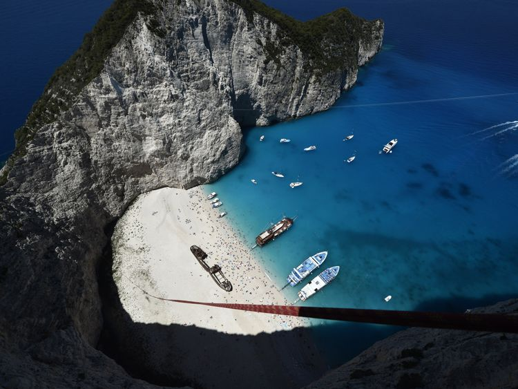 Zakynthos is well known for its picturesque Navagio beach