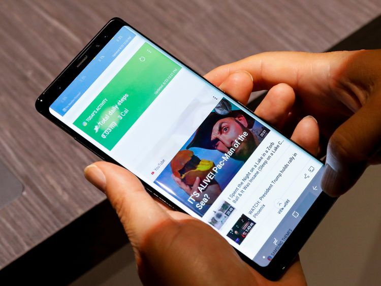 The new Galaxy Note 8 smartphone