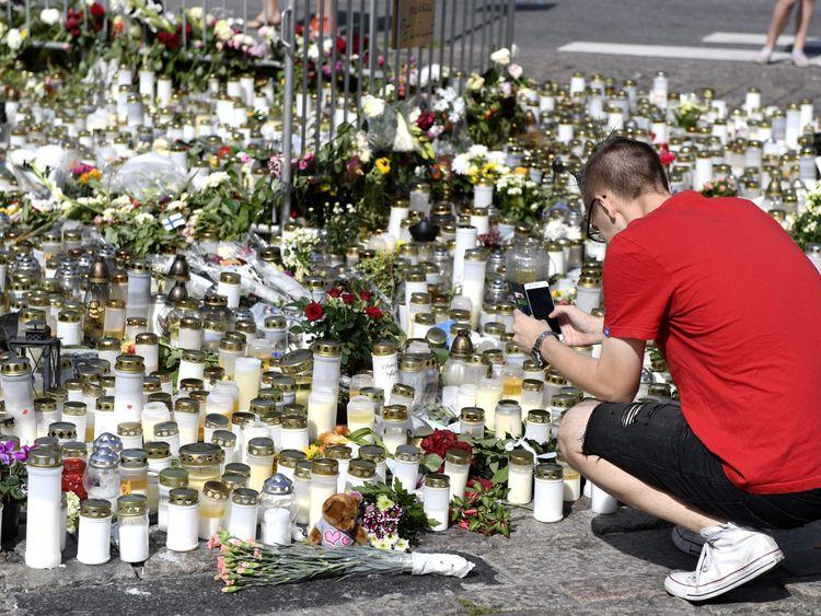 Finnish police question terror attack suspect