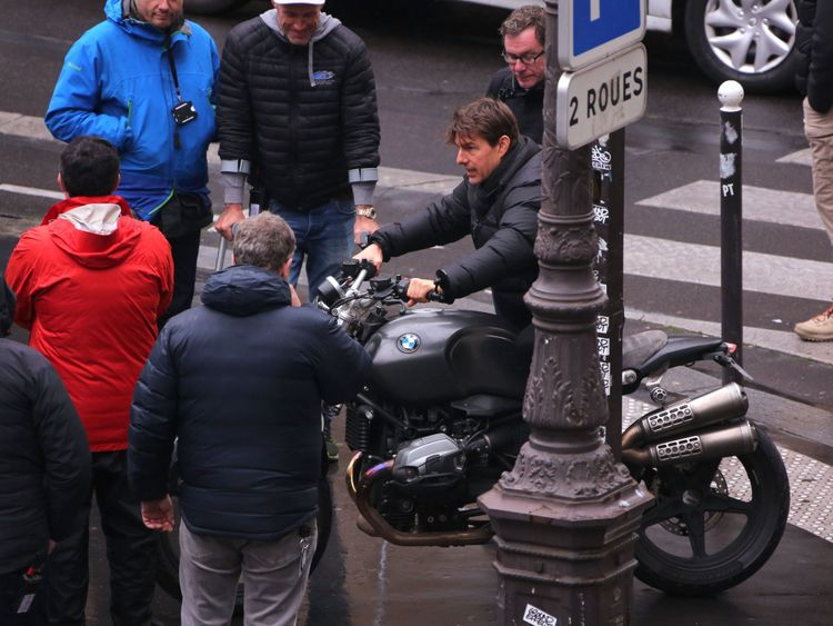 Tom Cruise films Mission Impossible 6