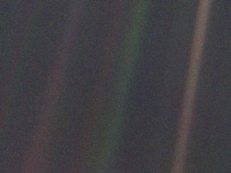 The Pale Blue Dot image was taken four billion miles away from Earth.
