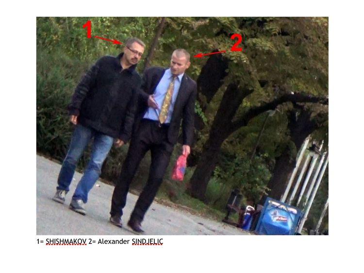 Eduard Shishmakov, said to be members of the GRU, Russian military intelligence, and Alexander Sindjelic. Via Ali Bunkall