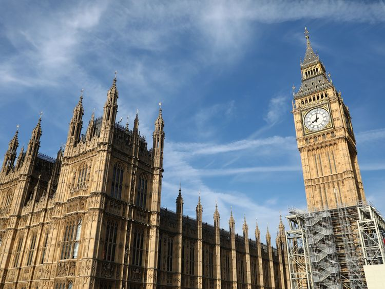 Big Ben, believed to be the country's most photographed building, is already half enveloped in scaffolding