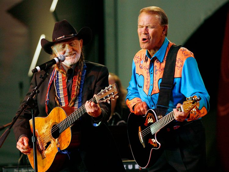 Willie Nelson and Glen Campbell
