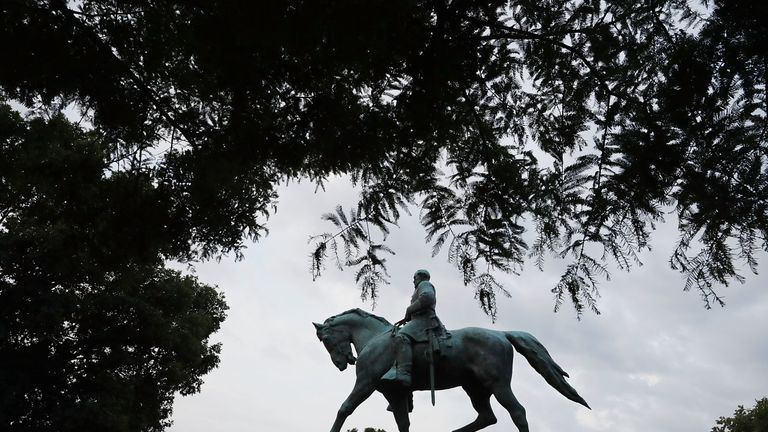 The Robert E. Lee statue in Charlottesville was erected in 1924