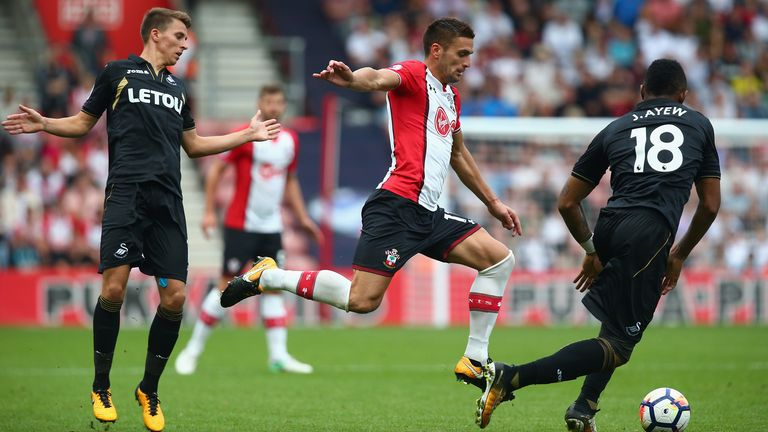 Southampton were held by Swansea at St Mary's