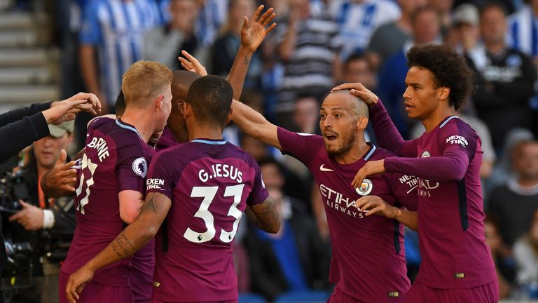 Watch highlights from Man City's win at Brighton