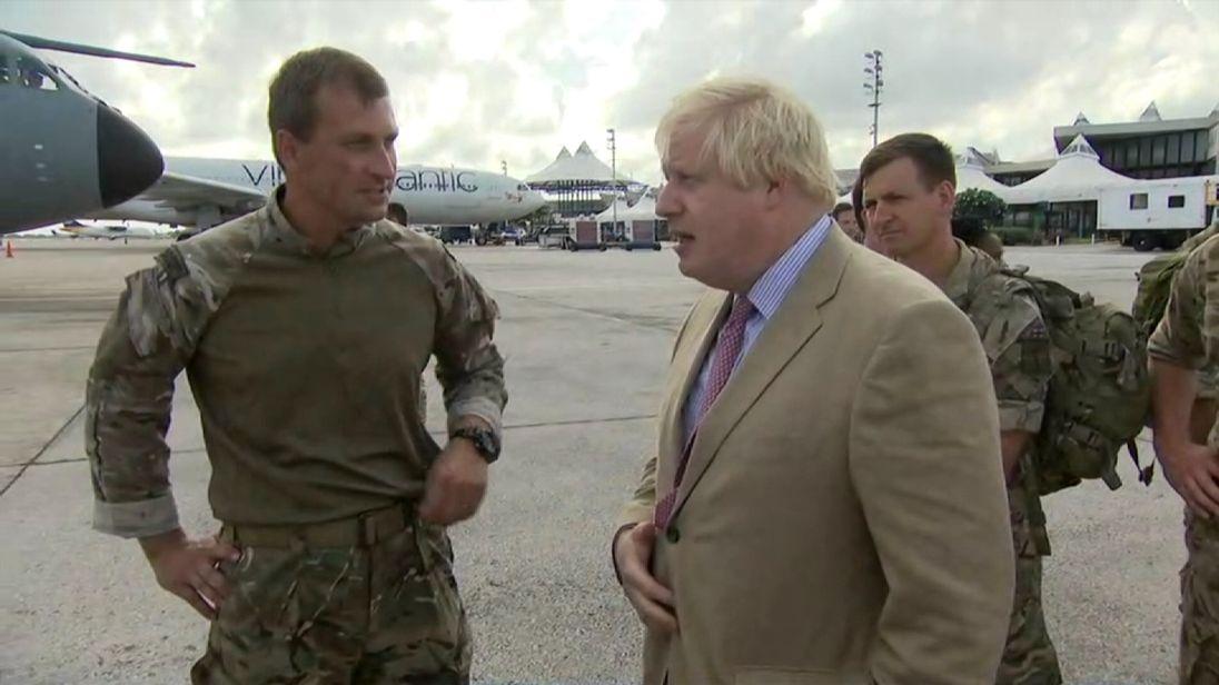 CE grab of Boris Johnson in Anguilla