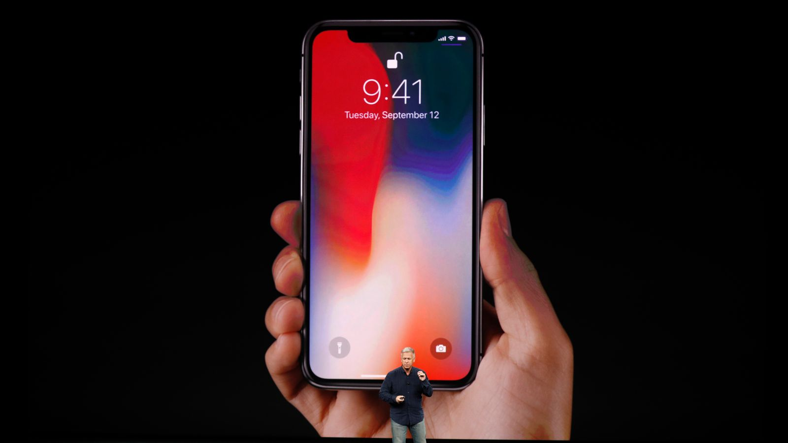 59691b9c93 The iPhone X, pronounced 10, features wireless charging, an infrared camera  and improved battery life, and will cost £999 when it is made available on  3 ...